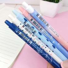 4pcs/lot Colorful Gradient Intelligent Automatic Pencil Student Kawaii Gifts Writing Pen Party Favor