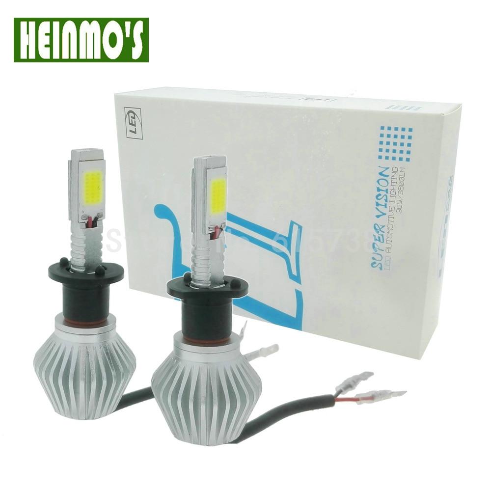 Prix pour 2 * H1 H3 H7 H8 H11 HB3 HB4 H9 36 W Voiture LED phare Auto Phare Pour VW Voiture Brouillard DRL Lumière Conduite Ampoules De Cuivre 12 V