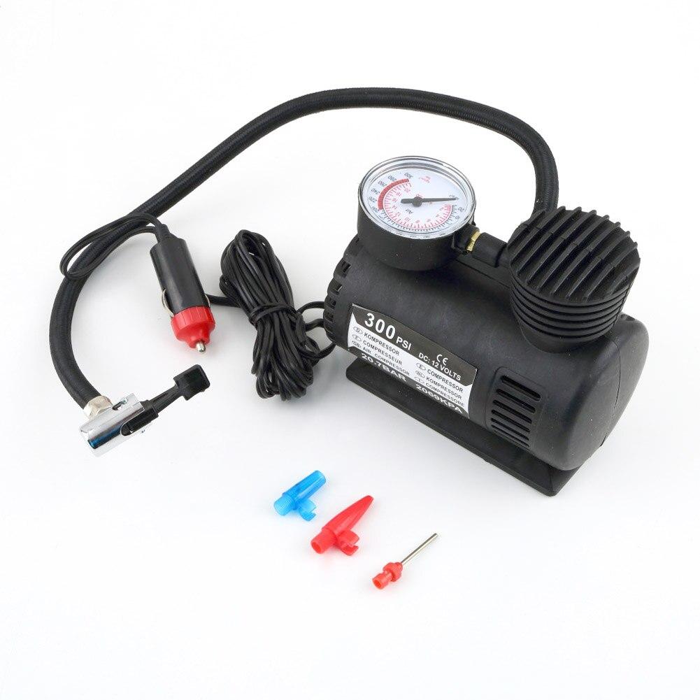 Portable 12V Auto Tire Infaltor Pump 300 PSI Car Electric Air Compressor XR657