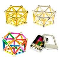 1set Magnet Balls 8mm Neodymium Magnet Bars Magnetic Force Toy Metal Balls Construction Creative DIY Gifts