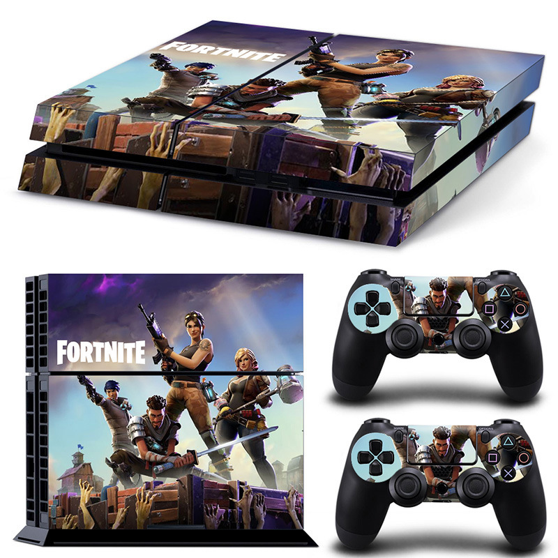 2018 Game Fortnite Battle Royale Skin Sticker Decal For PS4 One set Stickers for Console and 2 Controllers Vinyl Sticker