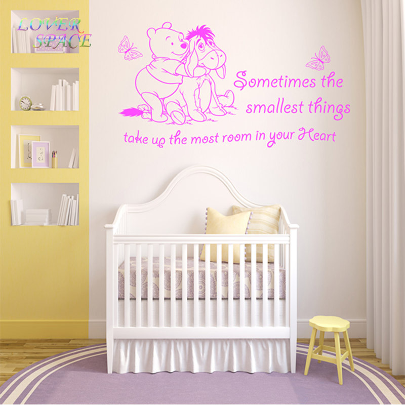 Aliexpress Com Winnie The Pooh Piglet To Venture Home Decoration Baby Quote Wall Decal Nursery Removable Stickers T120 From