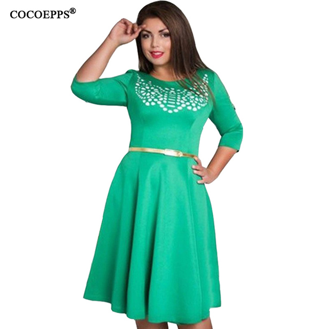 b68dfacea68 fashionable elegant women dresses big sizes NEW 2017 plus size women  clothing L-6xl dress