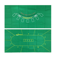 2 IN 1 - 90*180cm 7-10 Players Texas Poker & Blackjack - Double sides poker table cloth