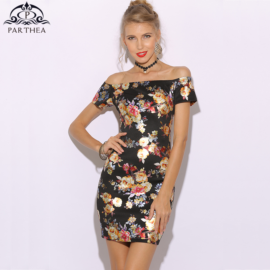 78657beb7647b Colysmo Gold Spray Floral Printed Metallic Dress Sexy Mini Women ...