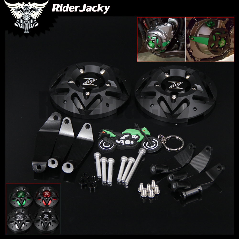 RiderJacky 1 Set Motorcycle Engine Guard Protector Covers Frame Sliders For Kawasaki Z900 Z 900 2017 2018 With LogoRiderJacky 1 Set Motorcycle Engine Guard Protector Covers Frame Sliders For Kawasaki Z900 Z 900 2017 2018 With Logo