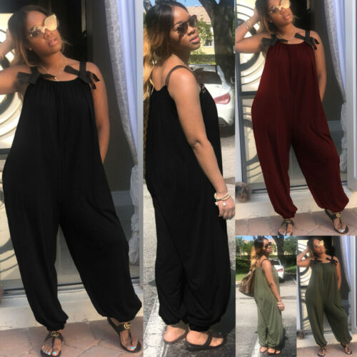 get cheap presenting choose genuine US $6.23 35% OFF|Womens Romper Jumper Dungarees Oversized Long Overalls  Loose Wide Leg Jumpsuit-in Jumpsuits from Women's Clothing on  Aliexpress.com | ...