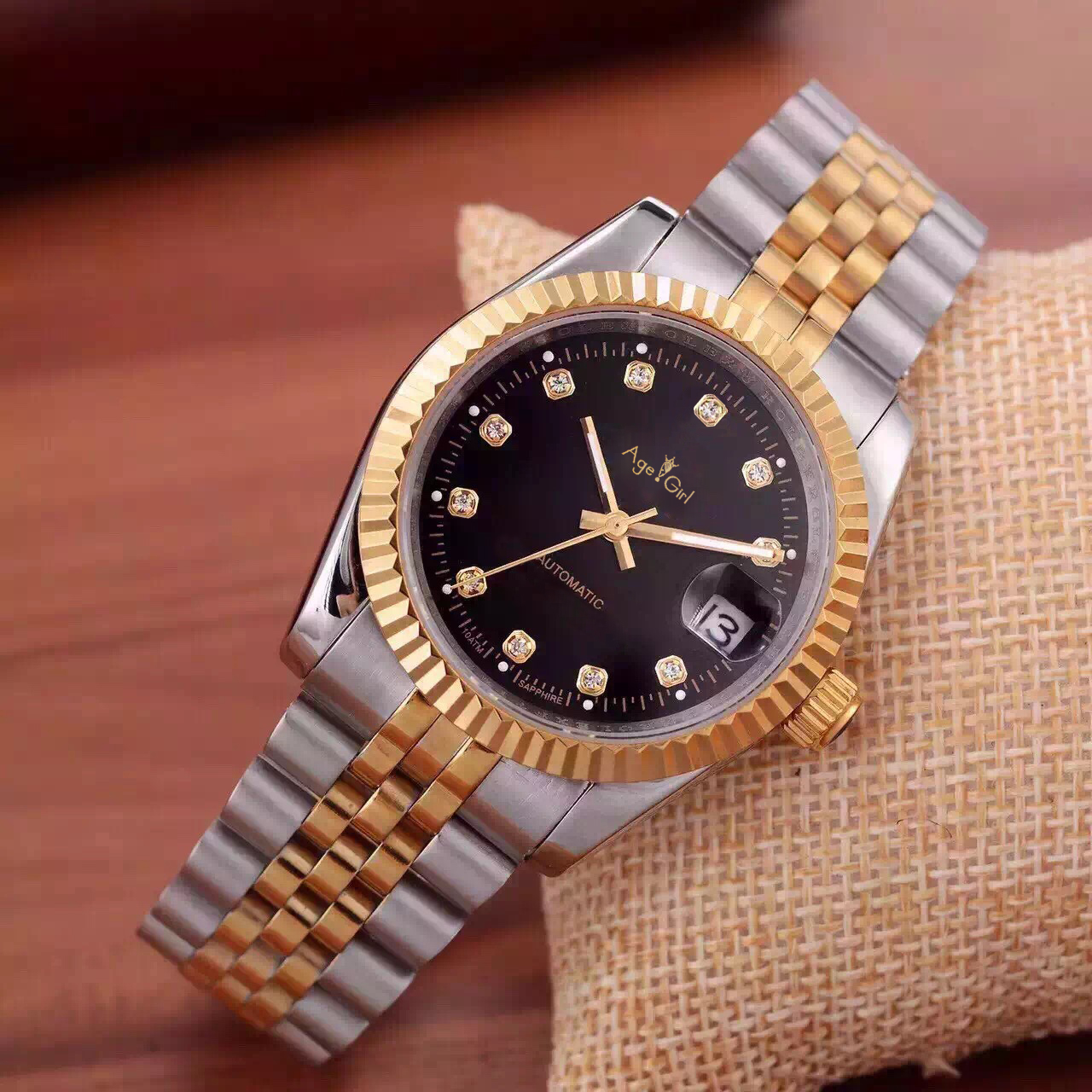 Luxury Brand New Stainless Steel Sapphire Waterproof Watches Men Automatic Mechanical Diamonds Silver Gold 36mm Datejust ETA8215Luxury Brand New Stainless Steel Sapphire Waterproof Watches Men Automatic Mechanical Diamonds Silver Gold 36mm Datejust ETA8215