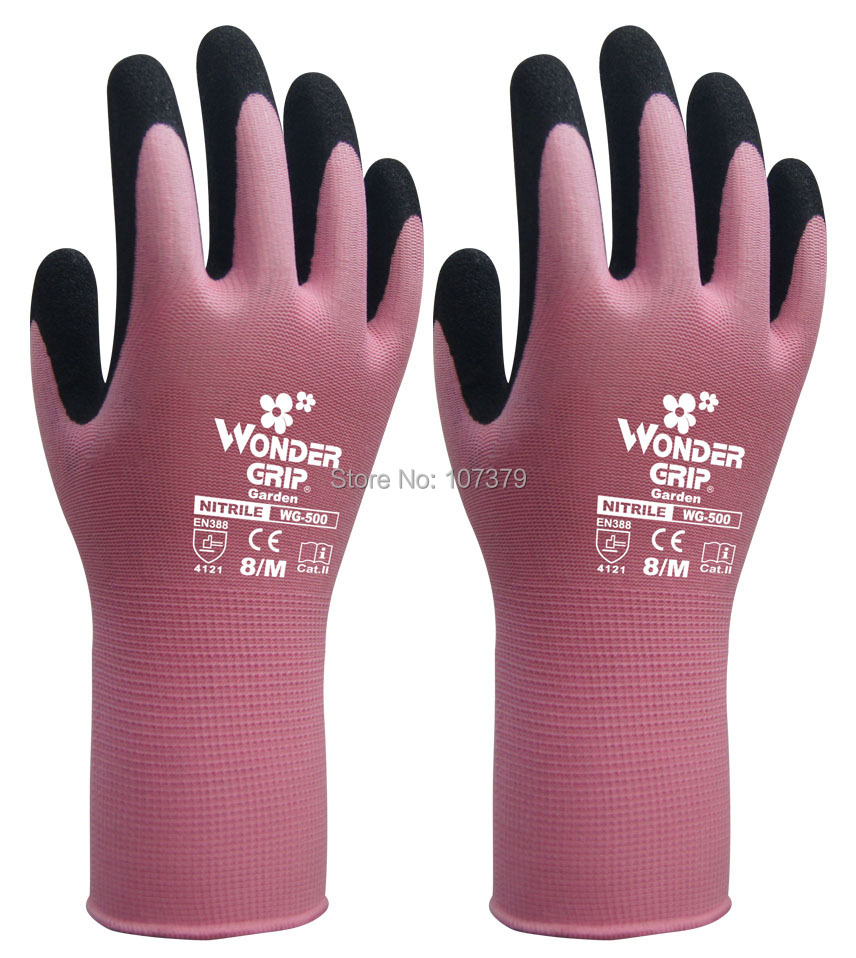 6 пари Заштитне рукавице за децу Врт најлон са нитрилним пескастим радним рукавицама вондер грип Женска радна рукавица