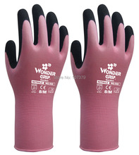 Garden Gloves Safety Gloves wonder grip 13 Guage Nylon With Nitrile Sandy Coated Work Glove nmsafety better grip ultra thin knit latex dip nylon red latex coated work gloves luvas