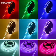 Foxanon Brand 5050 RGB Dubbele Rij Led Strip Licht 120LED/M 600LED ColorDC12V Waterdichte 24key Controller Flexibele Lamps5M/ roll(China)