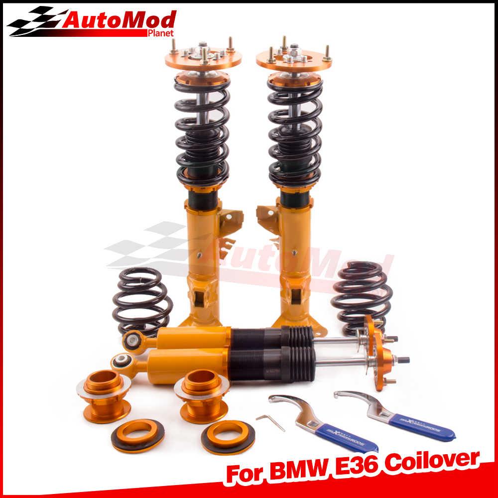 車高調 Struts Bmw E36 316i 318i 320i 323i 325i 328i M3 90-99 3 シリーズ Coilovers サスペンションダンパー力キャンバープレート