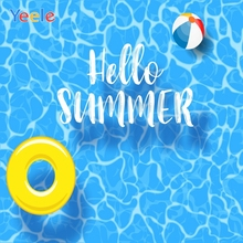 Yeele Swimming Pool Ring Ball Party Summer Holiday Photography Backgrounds Customized Photographic Backdrops for Photo Studio