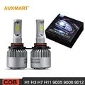 Auxmart H1 H3 H7 H11 Coche LED Headlight Kit de Conversión Sumergido Solo haz Frontal Bombilla 9005 9006 9012 LED Lámpara de La Niebla 72 w 8000LM 6500 K