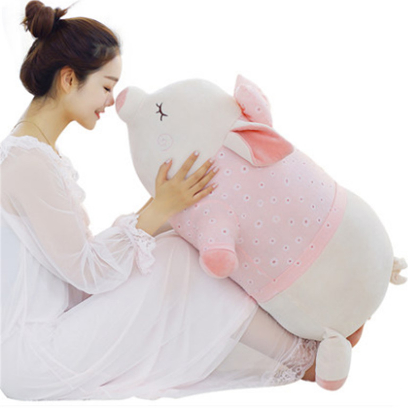 Fancytrader Cuddly Fat Pig Plush Toys Big Anime Piggy Pillow Doll 90cm 35inch Gifts for Girls 50cm turned out to be a handsome man pig rabbit plush toy cuddly doll animal pillow to give gifts