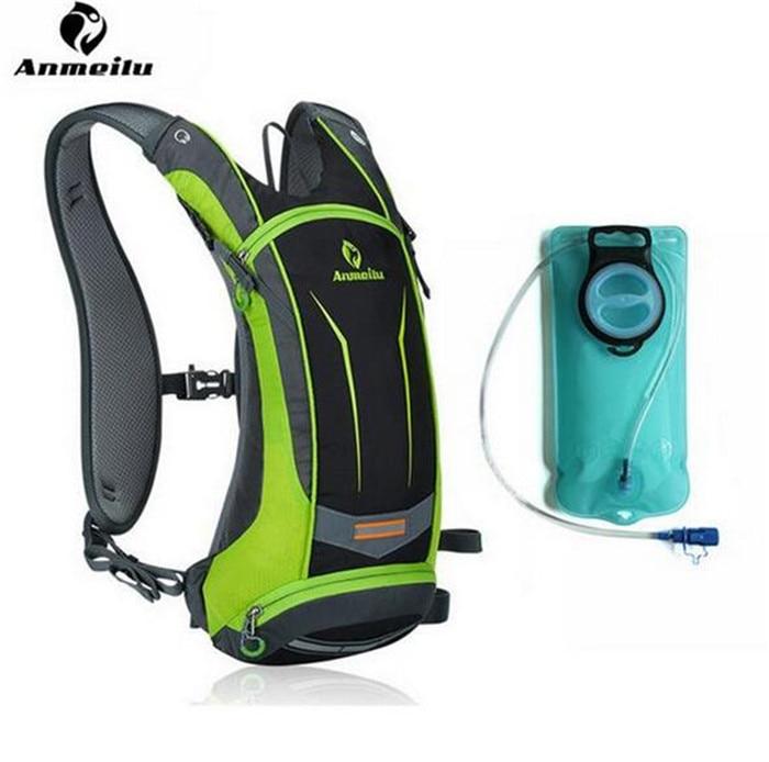 ФОТО ANMEILU Bicycle Bags 8L Sports Water Bags Bladder MTB Road Bike Bags Pannier Basket Backpacks Men Women Cycling Accessories