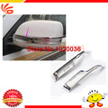high quality! ABS Chrome Rear View Mirror Decoration Trim  For 2013 LAND CRUISER FJ200 Side Mirror Cover Trim