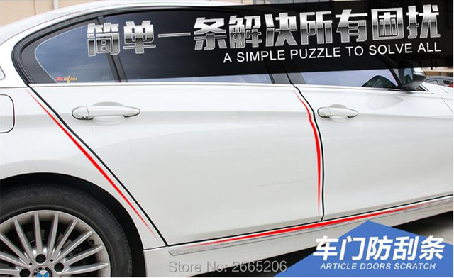 10m Car Styling Car Door Edge Protection Strip Moulding Strip For