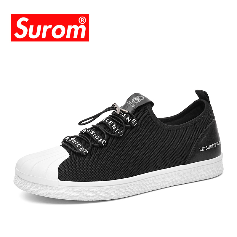 SUROM Luxury Brand Classic Canvas Shoes Men Lazy Shoes Loafers Harajuku Student Breathable Sneakers Casual Shoes Men Krasovki