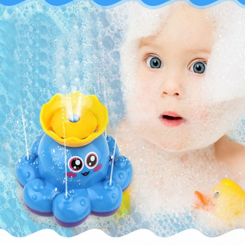 1 Pcs Baby Bath toy Mini Spray Water Octopus Kids Bathroom Swimming Pool Water Play Electric Dabbling Toy Funny Water Spray Toy