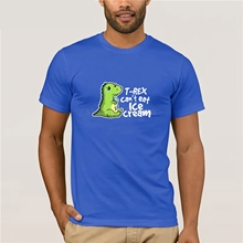 цена на Sad t-rex can not eat ice cream T-Shirt  The hottest T-shirt in the world 2019 latest popular men's casual T-shirt