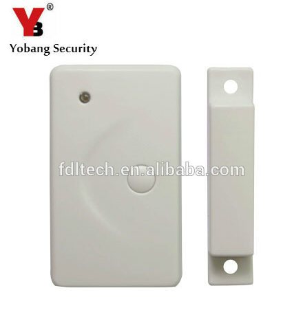 YobangSecurity 2pcs/lot Wireless Door Gap Window Sensor Magnetic Contact 433MHz door detector for home security alarm system 433mhz 5pcs wireless door window contact gap sensor detector 5pcs wireless vibration break breakage glass sensor detector