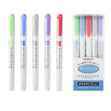 1 шт. Mildliner двухглавый маркер, фломастер, японская флуоресцентная ручка, цветные маркеры для рисования, креативные канцелярские принадлежности