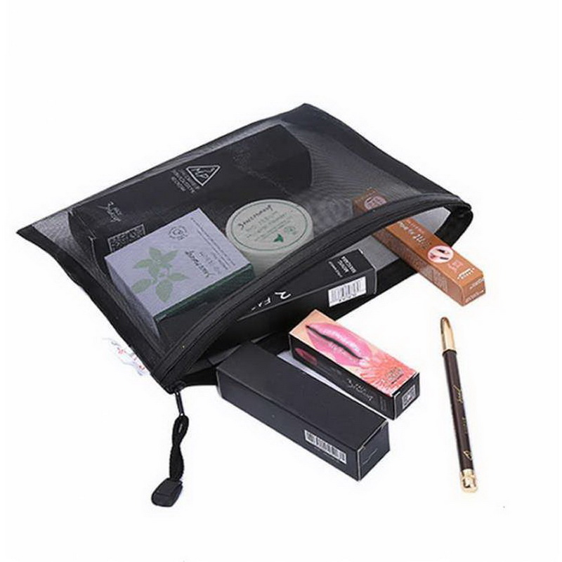 Casual Travel Cosmetic Bag Women Zipper Make Up Necessaire Makeup Case Organizer Storage Pouch Toiletry Beauty Wash Kit Case