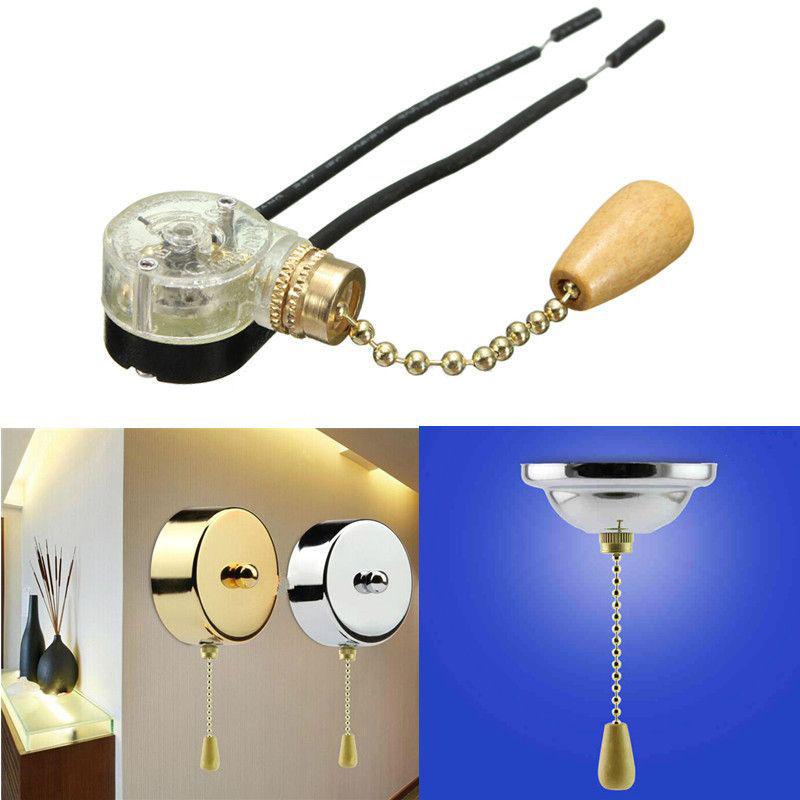 все цены на Retro Ceiling Fan Light Pull Chain Switch Convenient Wall light Replacement CN онлайн