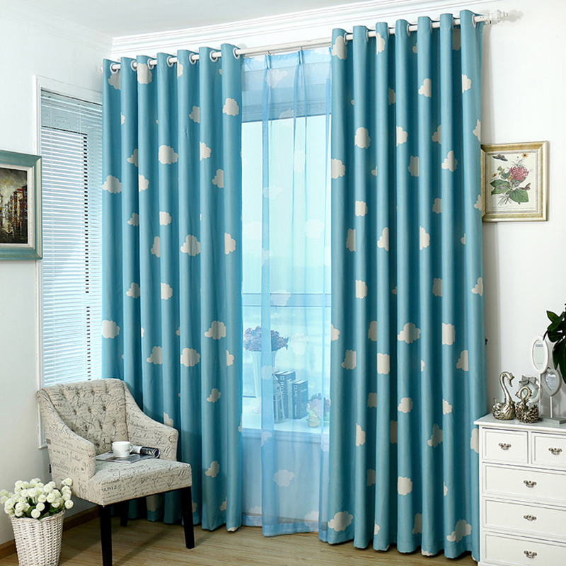 Arrival Window Curtains For Living Room Pink Cloth Curtain Voile Pastoral Drapes Blackout Fabric Clouds Hot Sale