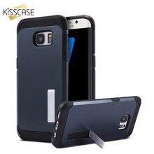 KISSCASE Cool Armor Stand Case For Samsung S6 S7 Edge Flip Function Galaxy Funda Capa Capinha