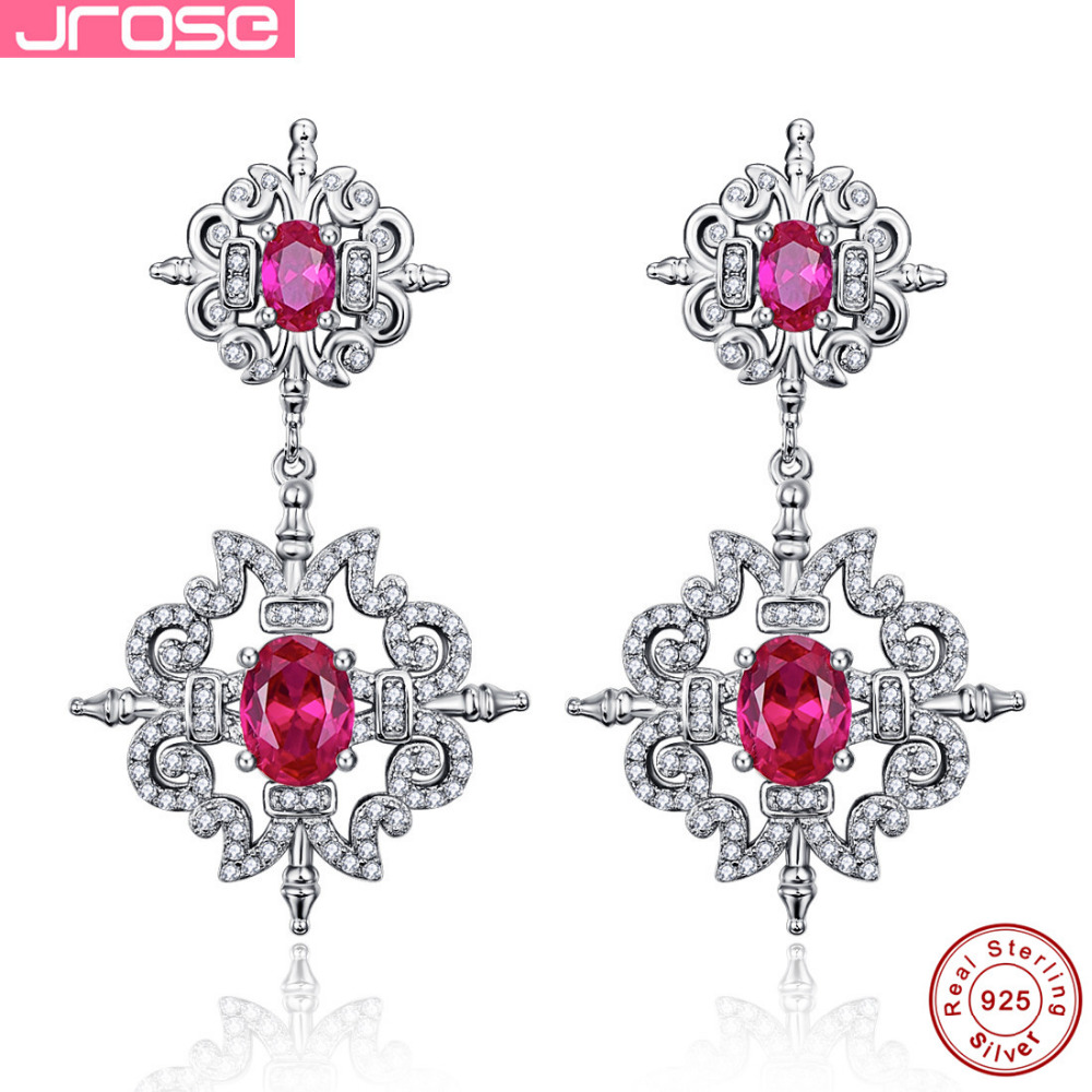 .Jrose 6.7ct Classic Pear Cut Earrings 100% Genuine 925 Sterling Silver Jewelery Wedding Anniversary Earrings ...