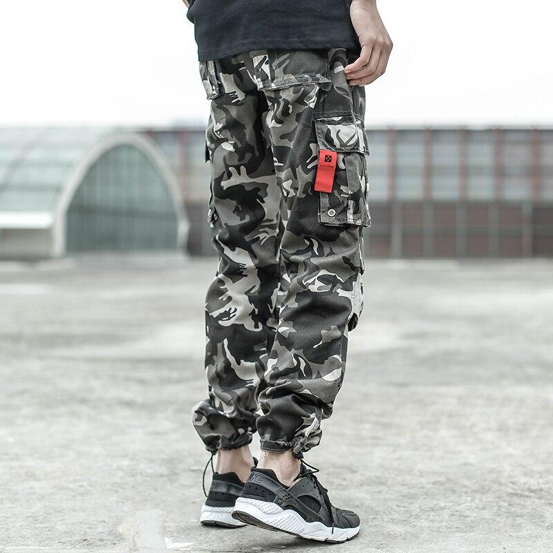 2018 Fashion Men's Jeans Casual Jogger Pants Cotton Camouflage Army Pants Big Size 28-40 Brand Design Big Pocket Cargo Pants Men