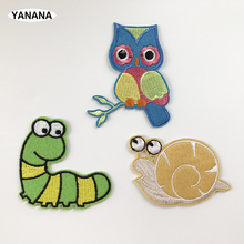 Worm Snail Owl  Iron On Patch Embroidered Applique Sewing Clothes Stickers