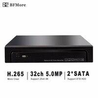 Bfmore H.265/H.264 32CH 5.0MP ONVIF UHD 4 К NVR видеорегистратор Регистраторы IP Камера видеонаблюдения CCTV Системы 2 SATA Поддержка 8 ТБ