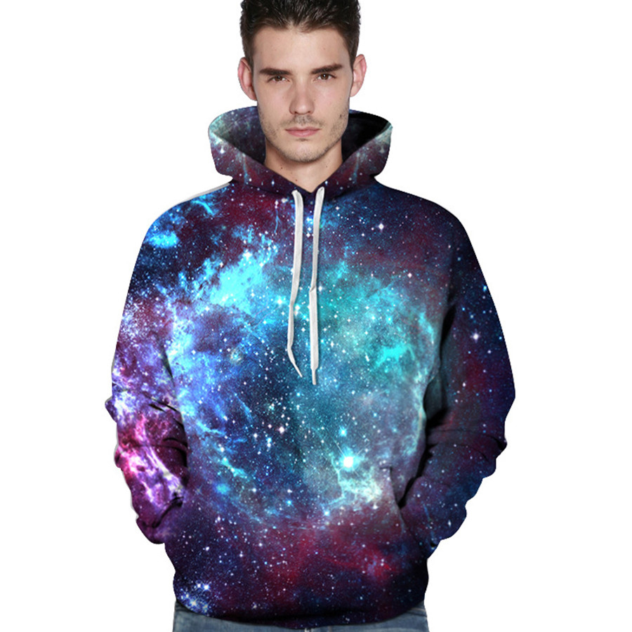 3D Space Galaxy Mens Hoodies Sweatshirts Streetwear Hip Hop Hooy Men Hooded Flash Cat Printed Anime Hooded Tracksuit Women Brand