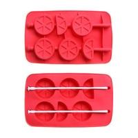 Ice Cube Tray Lollipops Mold Chocolate Ice Mold Candy Bar Silicone Mold Silicone Cake Decorating ToolsFondant IcingNozzle