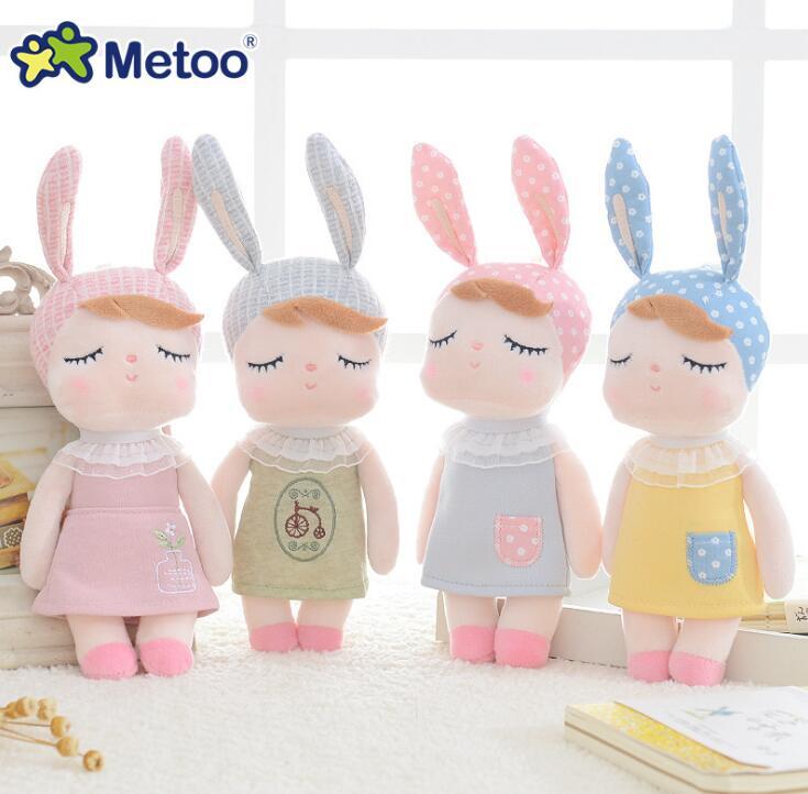 2019Metoo Doll Mini Cute Plush Stuffed Animal Cartoon Kids Toys For Girls Children Baby Birthday Christmas Gift Angela Rabbit