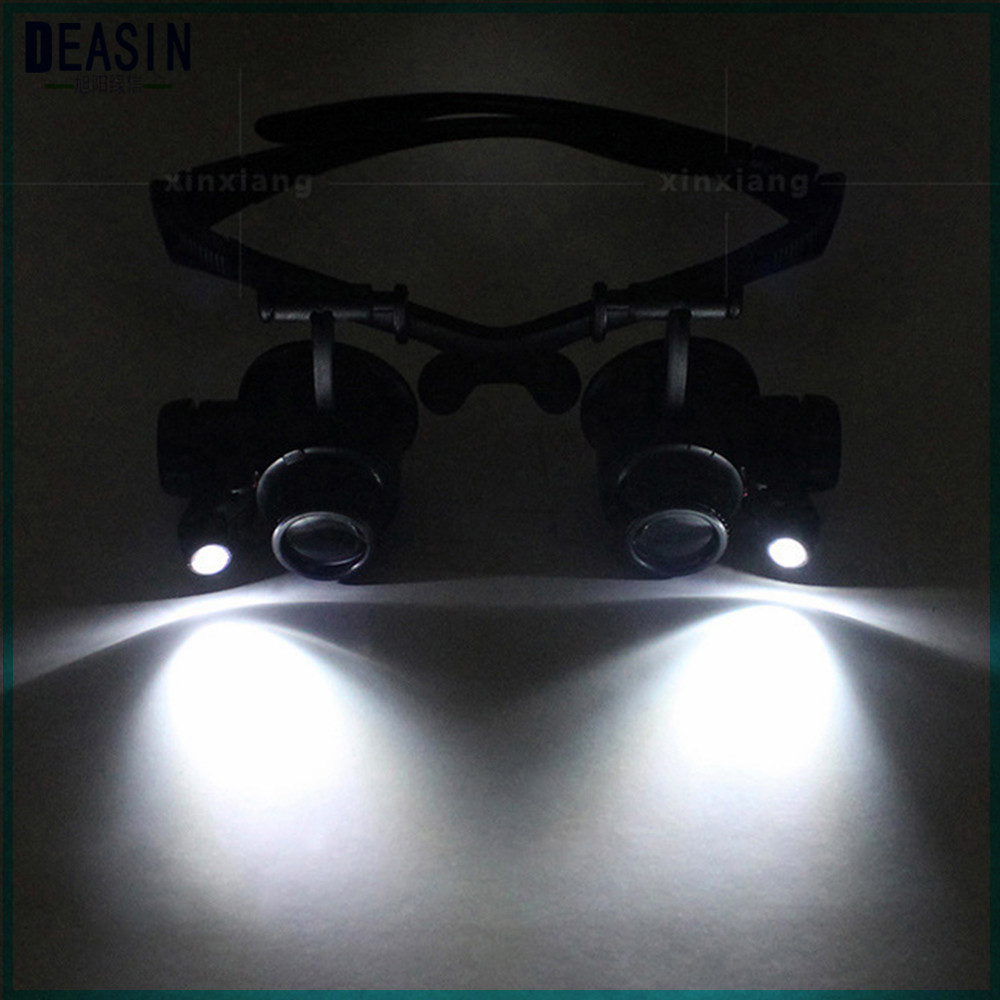 Dental Adjustable Lens LED Illuminated Headband Glasses Bracket The Old Reading 25 times Magnifie Loupe with led lights old man 100 619 retro 200 degrees resin lens pc frame reading glasses black