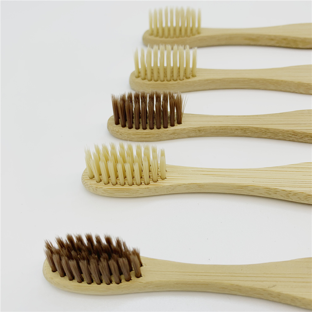 Natural Biodegradable Bamboo Toothbrush with Medium Hard Bamboo Charcoal Bristle Toothbrush Low Carbon Biodegradable Toothbrush in Toothbrushes from Beauty Health