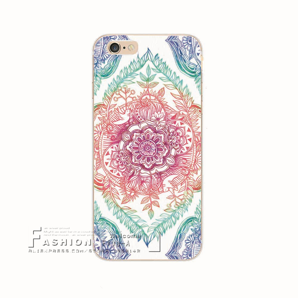 c7c510e21 Shell For Apple iPhone 6 6S iPhone6S iPhone6 Back Case Cover Printing  Mandala Flower Datura Floral Cell Phone Cases-in Fitted Cases from  Cellphones ...