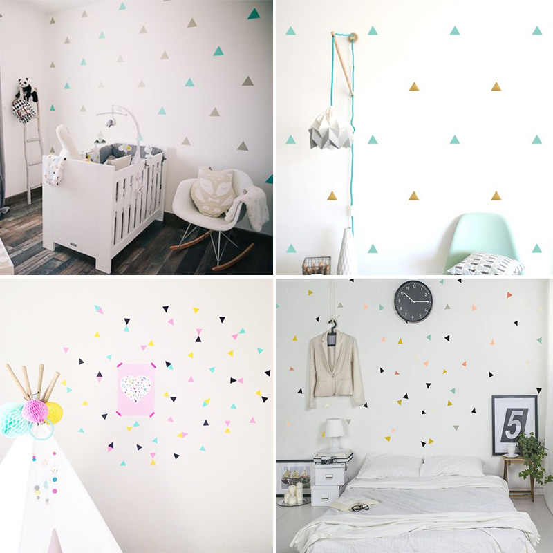 Surprising Triangles Baby Girl Room Wall Sticker For Kids Room Baby Boy Room Decor Kids Bedroom Home Decor Childrens Bedroom Wall Decor Home Interior And Landscaping Synyenasavecom