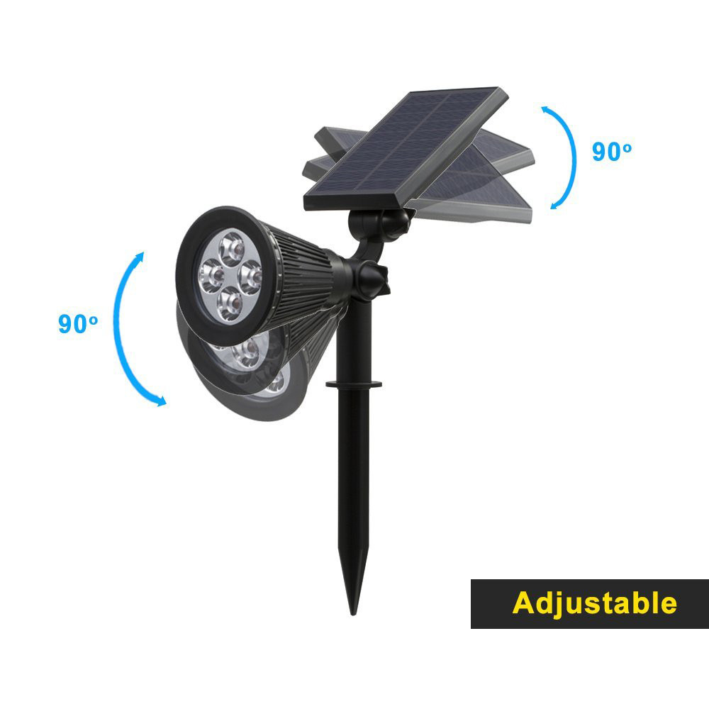 T SUN In Ground IP65 Solar Powered Spotlight with 4 to7 LEDs and Rechargeable Lithium Battery 13