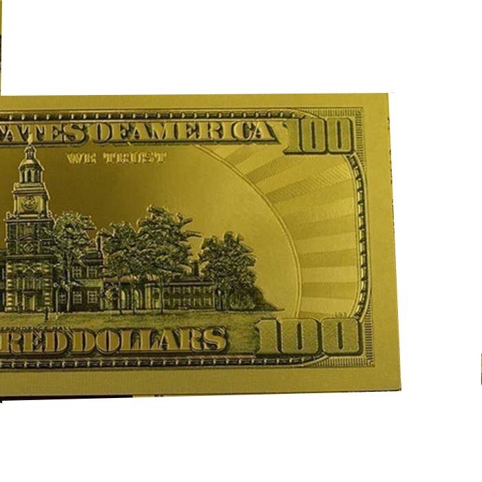 2 Stks Dollar Herdenkingsmunt Bankbiljet Gewoon Ambachten Niet Echte Valuta Prop Geld Speciale Ontwerp Unieke Stijl Gold Folie Papier Speelgoed Bar Brede VariëTeiten