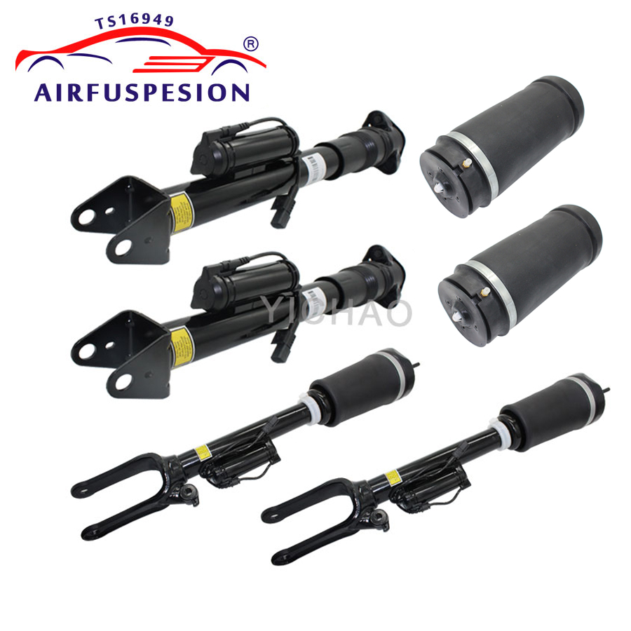 цена на For MERCEDES benz R Class W251 V251 2pcs Front Air Suspension Shock 2pcs Rear Shock with ADS 2pcs Rear Air Spring Bag