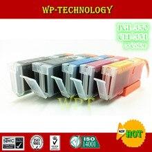 5 cor compatível cartuchos de tinta terno para PGI350 CLI351 terno para Canon 5530 6330 6530 7130 iP7230 MG5430 MX923 IX6830 IP8730