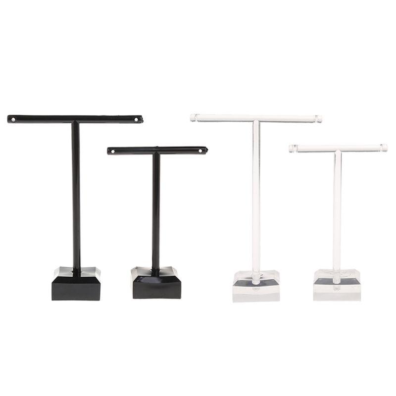2 Pcs/Set Earrings Shelf Jewelry Display Rack T Shape Stand Show Charms Universal Professional Showcase Boutique