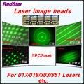 [RedStar] 5 ШТ. Лазерное изображение головы 50000 МВт Синий лазерное изображение головы 5 изображений для 017/303/018/851 и т. д. лазер
