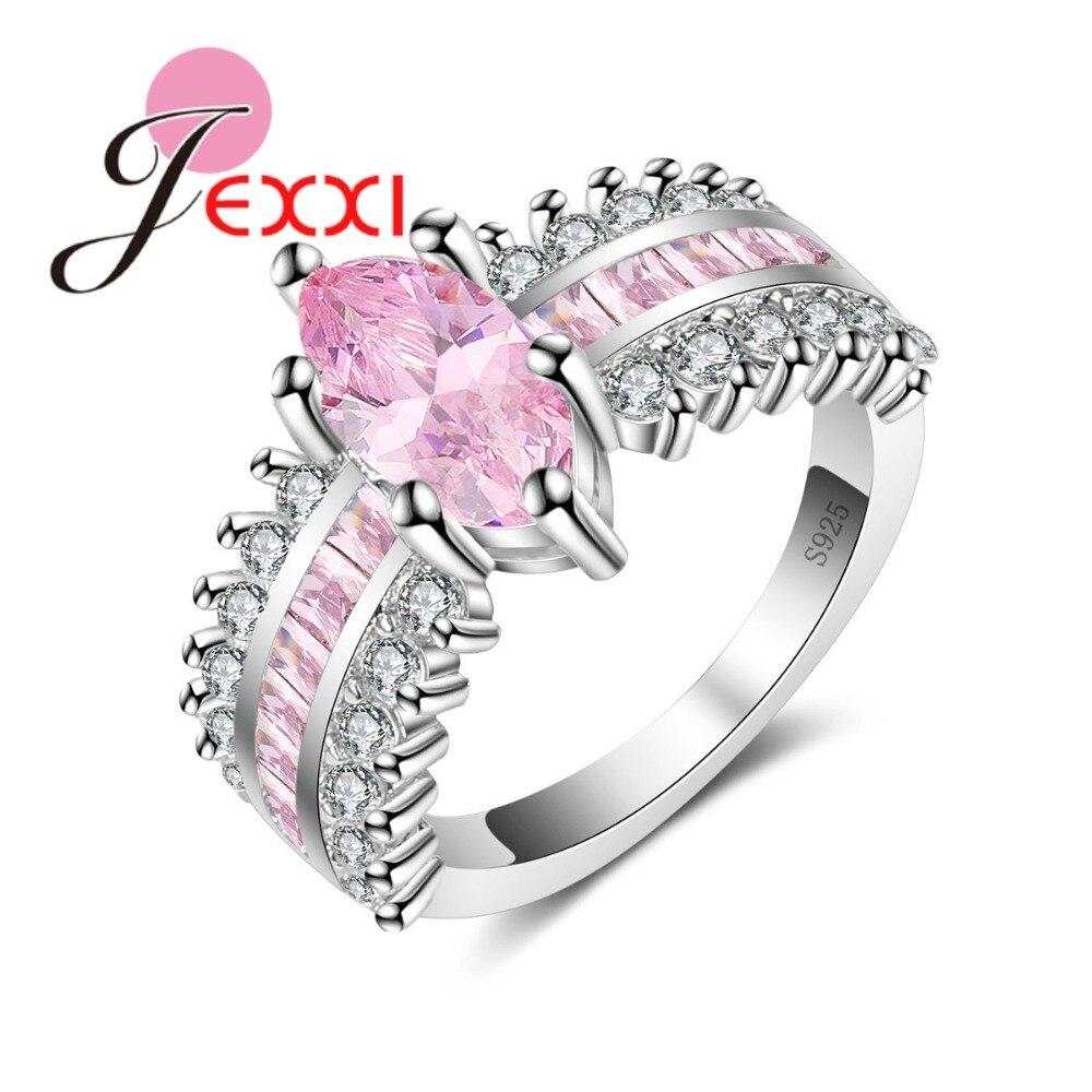 Jexxi Marke Einfache Flagon Form Runde Zirkonia Anhänger Halskette Hoop Ohrringe Für Frau Mode 925 Sterling Silber Sets Hochzeits- & Verlobungs-schmuck Schmuck & Zubehör