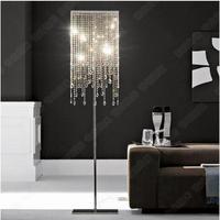 유럽 럭셔리 크리스탈 k9 램프 침실 미니멀리스트 현대 거실 플로어 램프 조명 램프 크리 에이 티브 부서 sj54